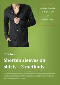 Shorten sleeves on shirts 3 methods FP